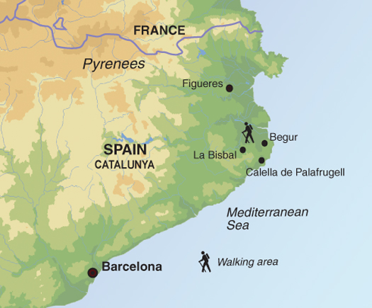 Carte de Catalogne
